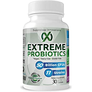 Probiotic 50 Billion CFU and 11 Strains with Prebiotic | Best Probiotics for Men and Women | High Potency | Dr Rated | Vegan Capsules | One Per Day | 30 Capsules
