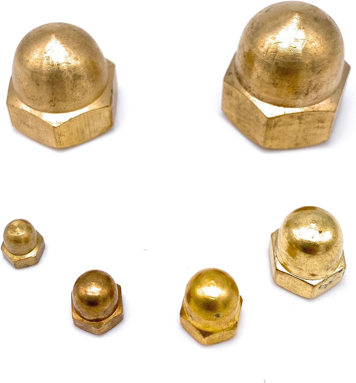 10 St/ück SN-TEC Messing Hutmuttern//Kappenmutter M12 DIN 1587