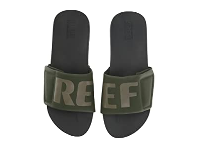 Reef Cushion Bounce Slide (Olive Grey Logo) Men