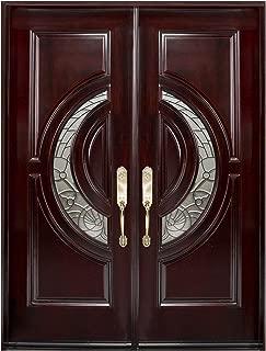 Mahogany Wood Prehung Front Door 30