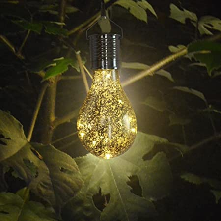 5 LED Solar Light Bulb Camping Hanging Outdoor Garden Rotatable Lamp