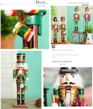 Spring Country 4 Piece 12 Inch Nutcracker Figures Soldier Doll Decoration Figurine Collection Holiday House Present Wood Occa