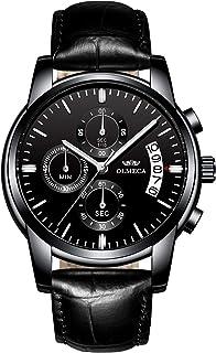 OLMECA ساعة رياضية للرجال ضد الماء ساعات معصم كاجوال عصرية ساعة رسمية للرجال انالوج كوارتز كرونوغراف تاريخ للرجال 835