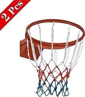 48/cm di lunghezza in nylon polipropilene standard basketball Hoop net blu rosso bianco Wdyjmall 2PCS 12/anelli