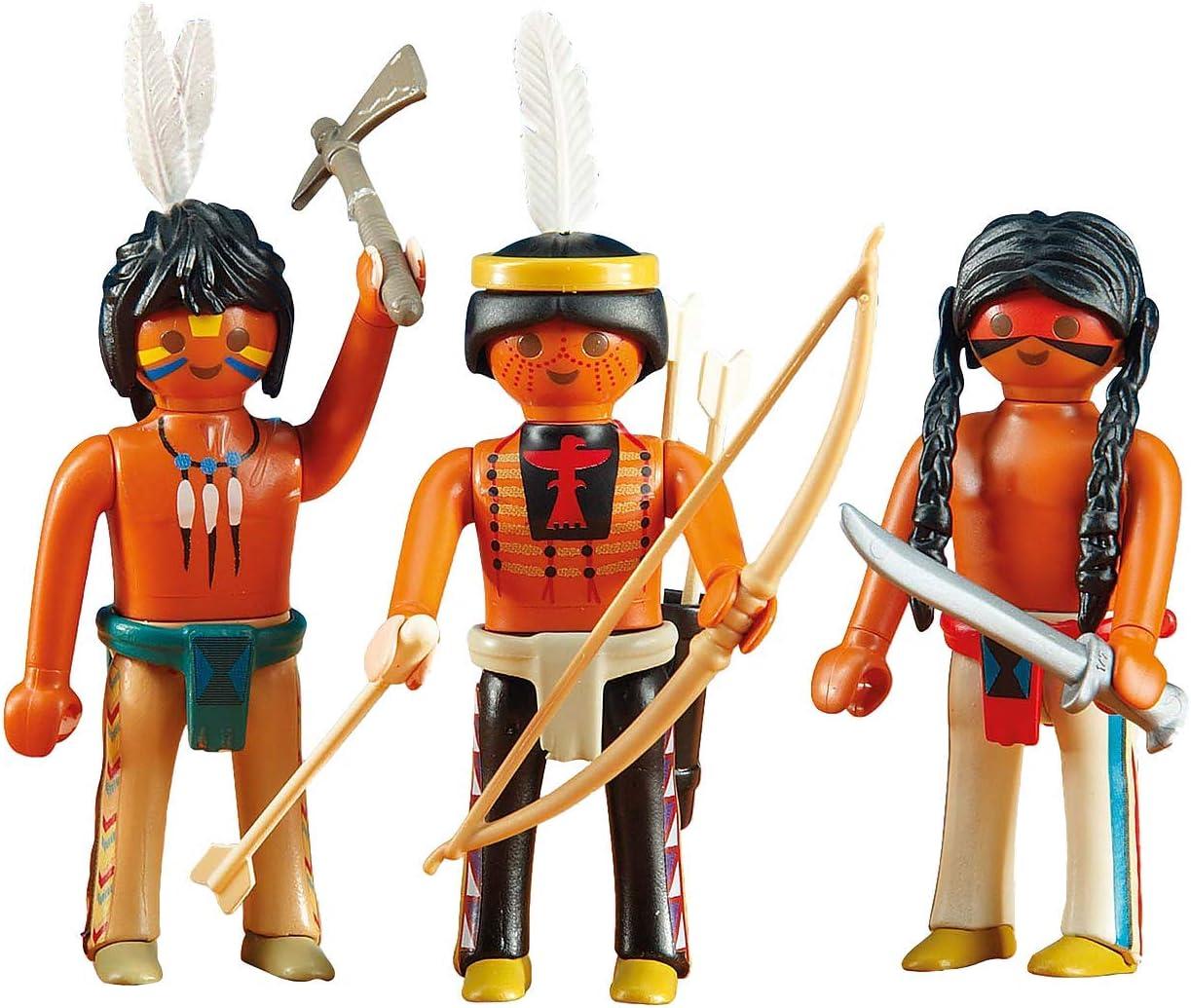 3 flèches noires pour vos indiens PLAYMOBIL Western 2 étuis ceinture-bleus
