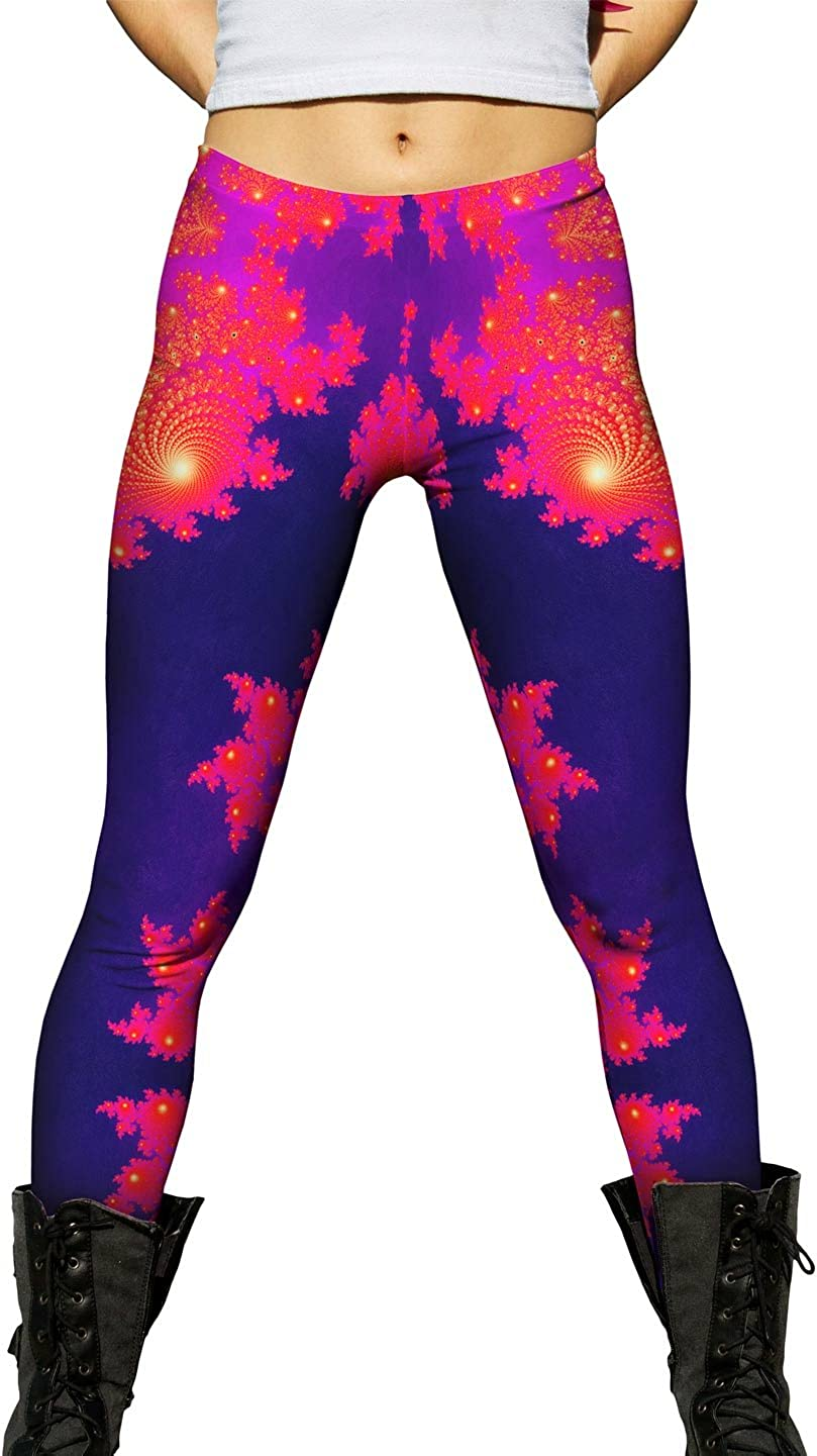Yizzam- Fractal Spiral Cleft- Miami Columbus Mall Mall Womens Leggings Ladies