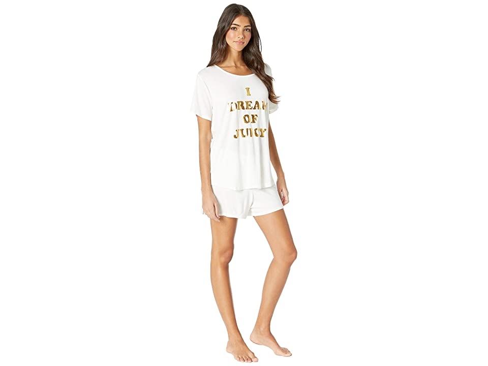 Juicy Couture Juicy Dreamer Sleep Tee/Shorts Set (Snow White) Women