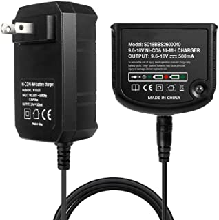 LENMAX 12V 14.4V 18V Dual Chemistry Battery Charger 90556254-01 for Black and Decker 9.6V-18V NiCad & NiMh Slide Style Batteries HPB18 HPB18-OPE FSB18 HPB14 FSB14 HPB12 FS12B HPB96 FSB96