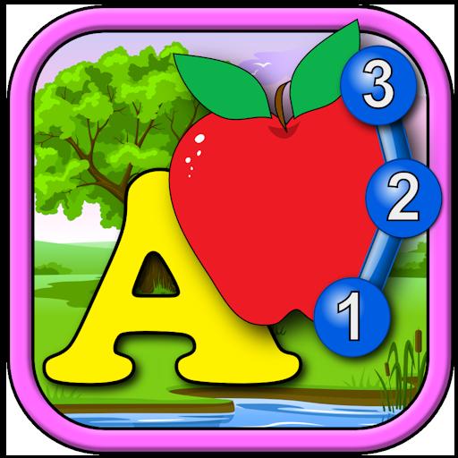 Niños ABC y contando Únete y conecte al juego de Puzzle Dot - aprender el alfabeto contando números y las formas adecuadas para niños pequeños y niños en edad preescolar 2 +