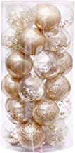 30pcs 6cm Party Decoration Shopping Mall Gift Shatterproof Tree Hanging Christmas Ball Ornament Stuffed Clear Bauble DIY H...