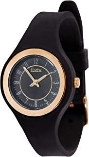 Fashion Casual Analog Quartz Wrist Watch for Teens and Adults, Silicone Strap with Needle Buckle