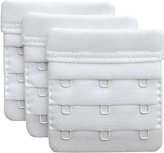"Chanie Women Pack of 3 Soft Comfortable 3 Hooks Bra Extender,2.4""x 2.3"""