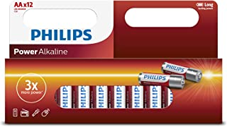 PHILIPS LR6P12B/97, Window Pack 12xAA Power Alkaline Battery, Red