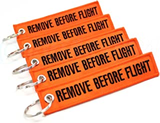 Rotary13B1 - Remove Before Flight Key Chain - 5pcs - Orange