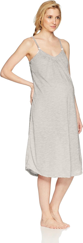 Belabumbum Womens Summer Long Maternity and Nursing Nightie Nightgown