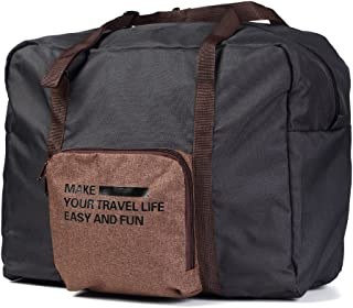 Foldable Travel Duffel Bag, Buruis Carry on Luggage Underseat Tote Bag,Water Resistant Lightweight Large Capacity Luggage Bag for Women & Men