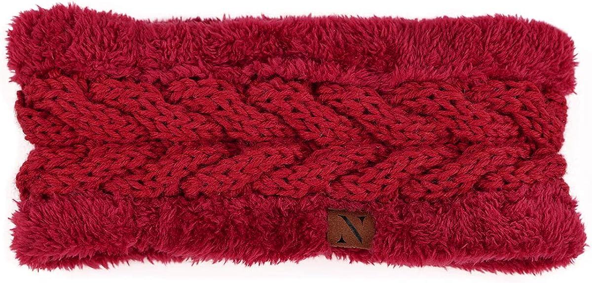 Red Thick Fleece Lined Headband Head Wrap