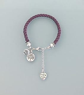 Bracciale donna viola albero della vita e profumo perla, bracciale donna, gioielli, bracciale albero della vita, idea rega...