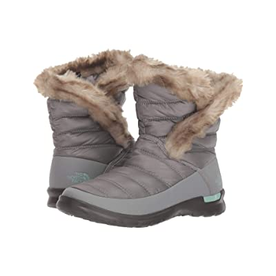 The North Face ThermoBalltm Microbaffle Bootie II (Shiny Frost Grey/Blue Haze) Women