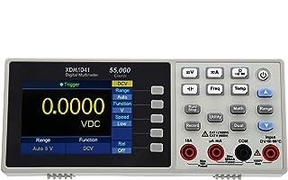 Mini Desktop Multimeter, 55000 Zähler 3,7 Zoll LCD Digital Multitester, AC/DC Strom, AC/DC Spannung, Widerstand, Kapazität(EU STECKER)