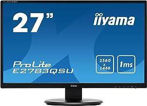 "iiyama Prolite E2783QSU-B1 27"" Wide Quad HD LED Flat Black Computer Monitor"