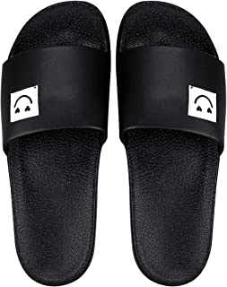 Blinder Men's Black White Latest Flip Flop Slipon Slide Slipper