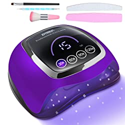 ZMteam 168W Nail Dryer Gel UV Light for Nails Fast Drying