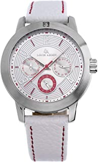 Louis Arden for Women - Analog Leather Watch -LA3030L-WHT-WHT-SV