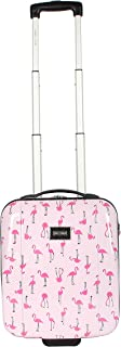 Betsey Johnson Designer Underseat Luggage Collection - 15 Inch Hardside Carry On Suitcase for Women- Lightweight Under Seat Bag with 2-Rolling Spinner Wheels