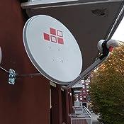 Diesl.com - Kit Antena parabolica de Television satélite Digital - 60cm + LNB Single 4k + Soporte + 20 Metros de Cable + Tacos a Pared + Conectores + ...