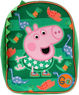 George - Mochila para niños (material sintético), color verde y multicolor