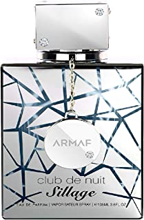 Club De Nuit Sillage Eau De Parfum, For Unisex – 105ml by ARMAF From the House of Sterling