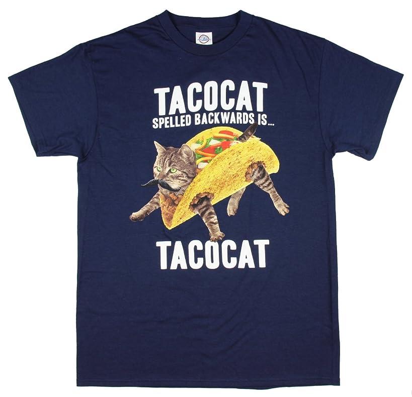 TACOCAT Spelled Backwards is TACOCAT Kitty Cat Navy Graphic T-Shirt
