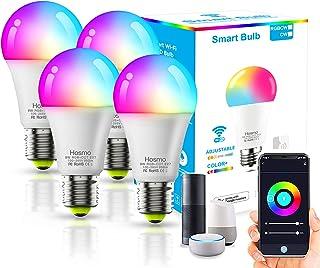 4Pack Lâmpada LED Inteligente XUELILI,Smart Lâmpada de Led Bulbo Bivolt,Compatível com Alexa e Google Home,A19-9W, RGB+CW,...