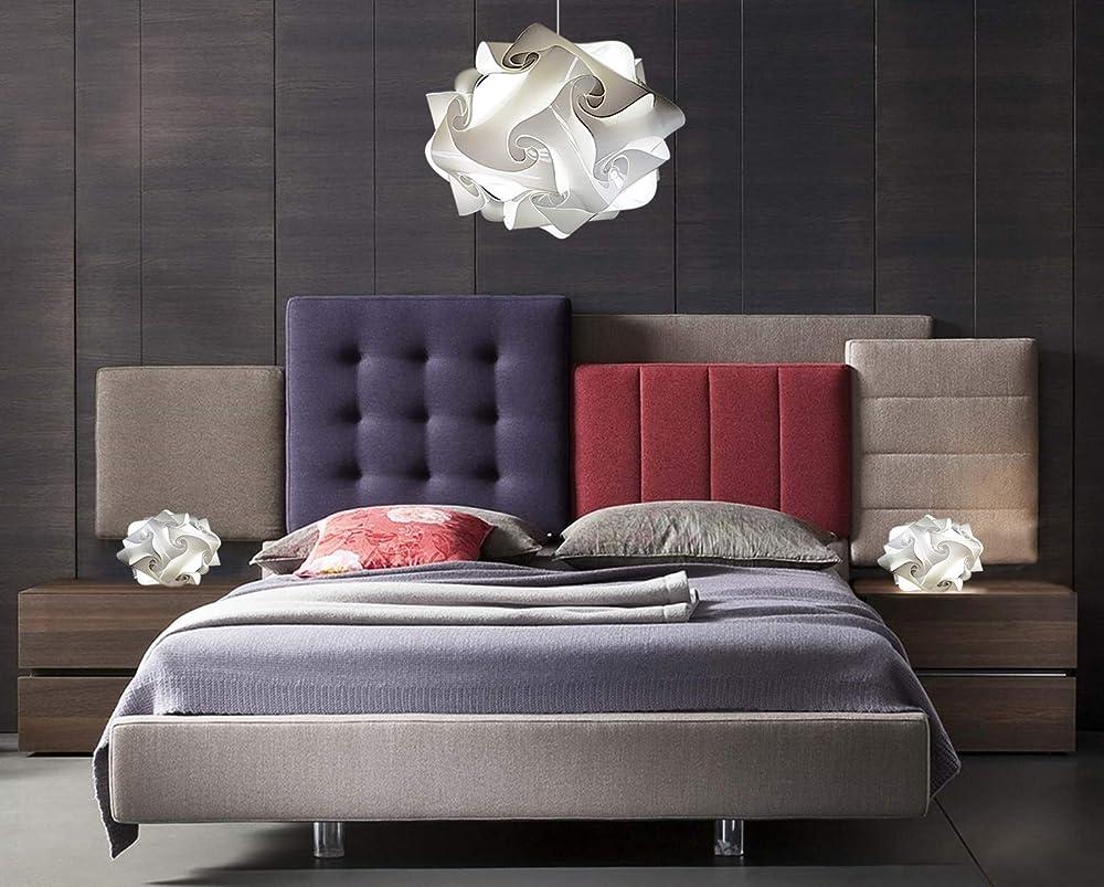 Bellissima lampada a sospensione design vintage da soffitto ufo con coppia lampade abat jur comodini SUG B,A