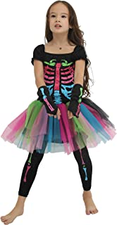 cute girl skeleton costume