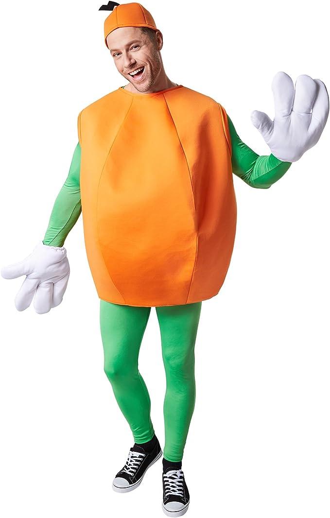 Colpo docchio: parte superiore senza maniche con copricapo integrato dressforfun Costume Pera Adulti unisex M   no. 301628 Divertenti guanti di grandi dimensioni inclusi