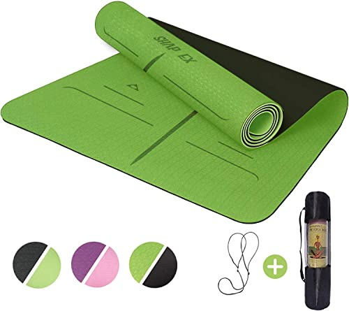 """ShapEx Large Yoga Mat (72""""x26.5""""Inch) Thick Yoga Mat ¼ Inch Thickness Non Slip,Anti-Tear,Sweat-Proof,Eco Friendly Exe..."""