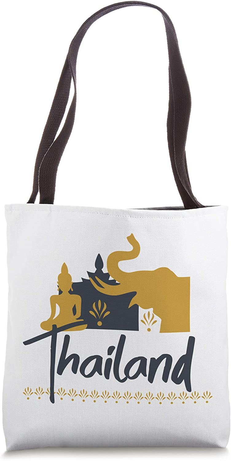 Thailand Elephant Souvenir Traveling Vacation Gift Tote Bag