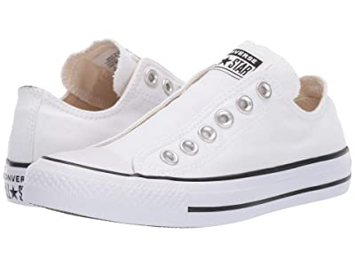Converse Chuck Taylor All Star Slip-On (White/Black/White) Slip on Shoes