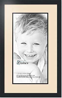 Art to Frames Double-Multimat-670-776//89-FRBW26079 Collage Photo Frame Double Mat with 1-12x24 Openings and Satin Black Frame