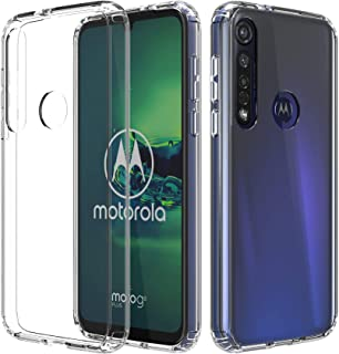 ShinyMax Moto G8 Plus Clear Case,Motorola G8 Plus Phone Case,Transparent Hybrid Sturdy Protective Cover Flexible Shockproo...