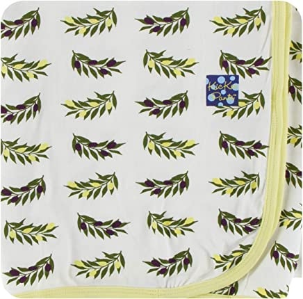 0450b4225 Amazon.com: KicKee Pants Little Boys Print Swaddling Blanket - Natural  Olive Branch, One Size: Baby