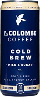 La Colombe Cold Brew Coffee - Milk & Sugar - 9 Fluid Ounce, 16 Count - Medium Roast, Cold Pressed Espresso - Pure Black Grab And Go Coffee