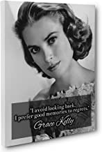 Biggest Fear is to be Forgotten, Grace Kelly Quote Canvas Wall Art