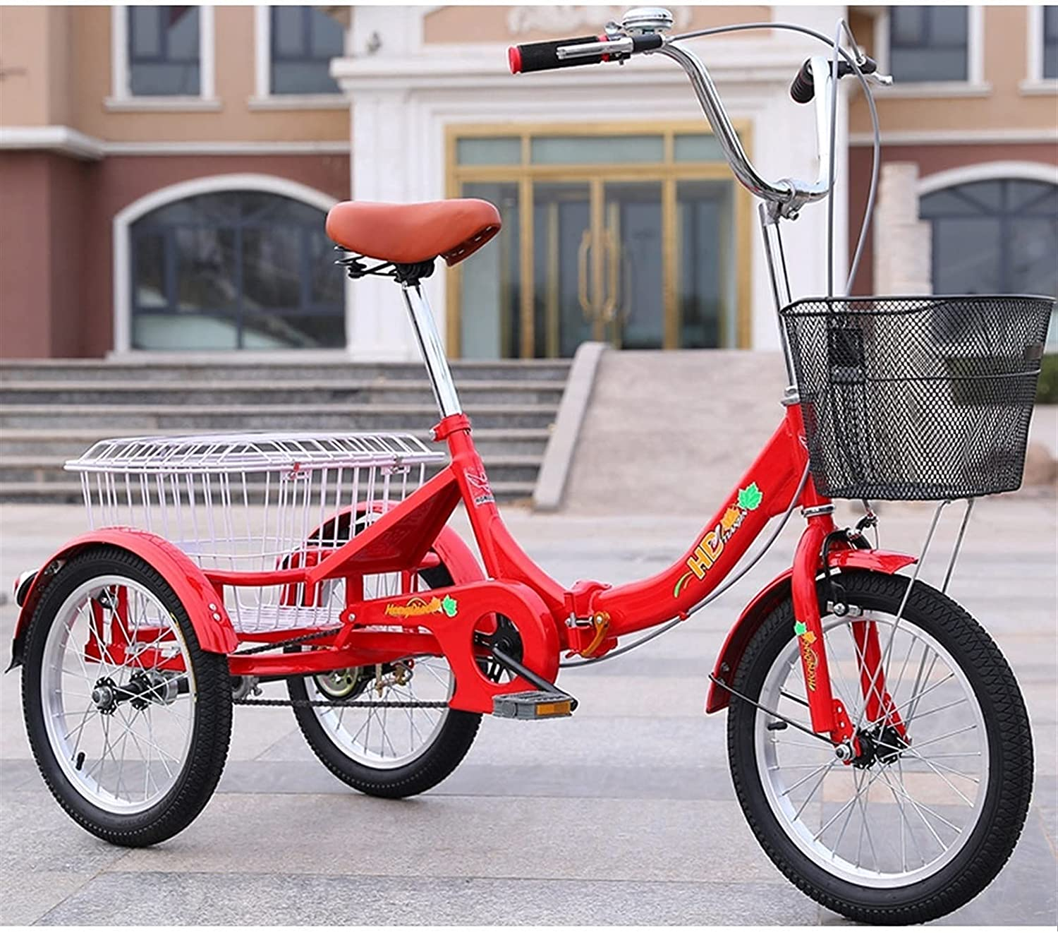PARTAS Foldable Sales results No. 1 Trike Adult 16-inch with Wear-Resistant Award-winning store Tricycle