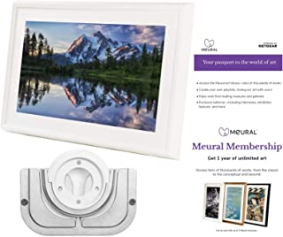 Meural Canvas - Smart Digital Photo Frame - Art Display | Leonora White | Swivel Wall Mount | 27 inch HD Display with WiFi | Smart Home Compatible | Includes One-Year Membership to Art Library