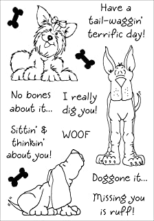 Stampers Anonymous Inky Antics Clear Stamp Set, 5.5 by 4-Inch, Delightful Dogs No.2