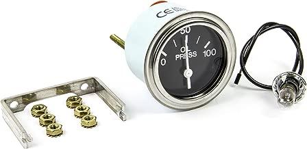Sierra International 67353P Heavy Duty 0 to 100 Psi Dial Range Nylon 24-Volt Electric Oil Pressure Gauge, 2