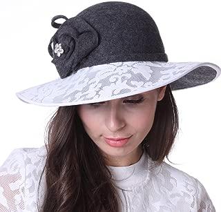 June's Young Women Hat Winter Outdoor Wool Hat Church Hat Wedding Hat dress coat set